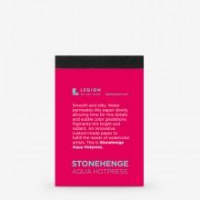 Stonehenge : Aqua : Bloc de Papier  Grain Fin : 9.5x6.3cm : Echantillon  : 1 Par Commete
