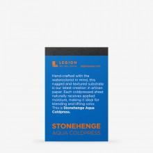 Stonehenge : Aqua Not Paper Pad : 140lb (300gsm) : 6.3x9.5cm : Sample : 1 Per Order