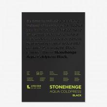 Stonehenge : Aqua Noir : Bloc Papier Aquarelle  : 140lb (300g) : 25x35cm : Grain Fin