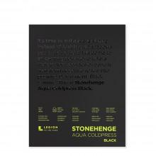 Stonehenge : Aqua Noir : Bloc Papier Aquarelle  : 140lb (300g) : 21x25cm : Grain Fin