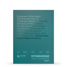 Stonehenge : Aqua Heavy Watercolour Paper Block : 300lb (600gsm) : 12x16in : Not