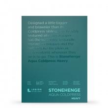Stonehenge : Aqua Heavy Watercolour Paper Block : 300lb (600gsm) : 9x12in : Not