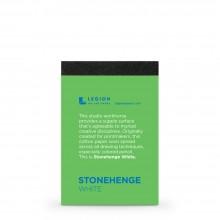 Stonehenge :Bloc Papier Blanc  : 9.5x6.3cm : Echantillon  : 1 Par Commande