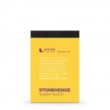 Stonehenge :Bloc Blanc Chaud : 9.5x6.3cm : Sample : 1 Per Order