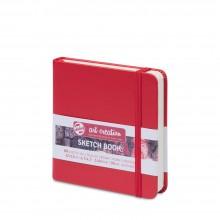 Royal Talens : Art Creation : Hardback Sketchbook : 12x12cm : Red