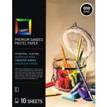 UART :Papier Pastel Ponçé : Lot de 10 Feuilles : 21x27in (53x69cm) : Calibre 600