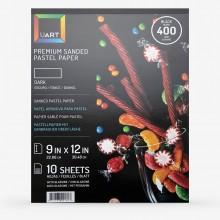 UART :Papier Pastel Foncé : Toucher Grain de Sable: Bloc de 10 Feuilles : 20x30cm (23x30cm) : Grade 400