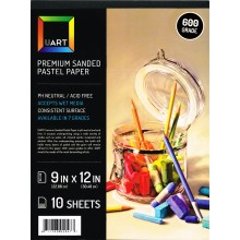 UART :Papier Pastel Ponçé : Bloc de 10 Feuilles : 20x30cm (23x30cm) : Calibre 600