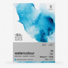 Winsor & Newton : Classic : Watercolour Paper : Gummed Pad : 300gsm : 12 Sheets : Cold Pressed : A3