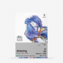 Winsor & Newton : Heavy Weight Drawing : Cartridge Gummed Pad : 220gsm : Medium : 25 Sheets : A5
