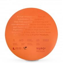 Yupo : Round : Medium Watercolour Paper : 74lb (200gsm) : 12in Diameter : 10 Sheets : White
