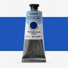 Cranfield : Caligo : Safe Wash : Encre taille-douce : 75ml : Cyan (couleur primaire quadrichromie)