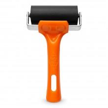 Essdee : Soft Roller / Brayer (Orange Handle) : 25 Shore : 75mm
