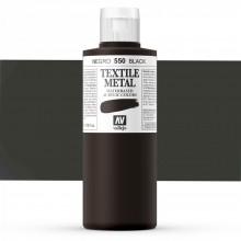 Vallejo :Peinture sur Textile: 200ml: Metallic Black Pearl