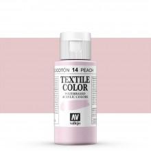 Vallejo :Peinture sur Textile: 60ml: Peach