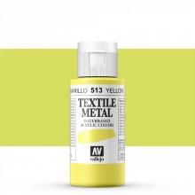 Vallejo :Peinture sur Textile: 60ml: Metallic Yellow Pearl