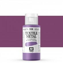 Vallejo :Peinture sur Textile: 60ml: Metallic Violet Pearl