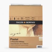Daler Rowney : Ingres : Papier Pastel: 160g : 24 Feuilles : 20x30cm: White
