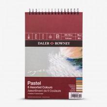 Daler Rowney : Ingres : Papier Pastel: 160g : 24 Feuilles : 6x9in: 6 Colours