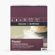 Daler Rowney : Ingres : Papier Pastel: 160g : 24 Feuilles : 20x30cm: 6 Colours