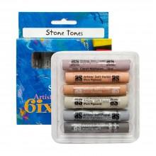 Art Spectrum :Pastel Tendre : Lot de  6 : Stones Tones Stones Tones