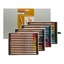Bruynzeel : Design : Crayon Pastel : Boîte de 48 : Couleurs Assorties