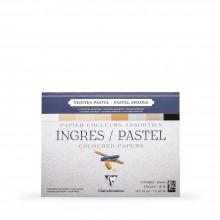 Clairefontaine : Ingres: Papier Pastel Encollé : 18x24cm : Neutral Colours