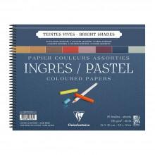 Clairefontaine :Ingres: Papier Pastel à Spiral : 24x30cm : Bright Colours