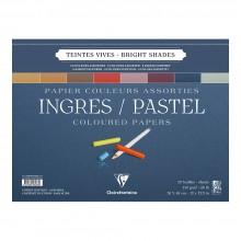 Clairefontaine :Ingres: Papier Pastel à Spiral : 30x40cm : Bright Colours