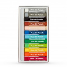 Pentel :Pastels à l'Huile Large: Lot of 12