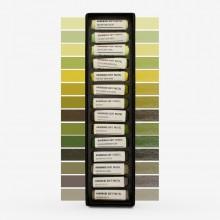 Jackson's :Pastel Tendre Fait Main : 14 Couleurs : Lot Paysage Vert