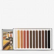Cretacolor : Carres : Lot de 12 Hard Pastel Browns