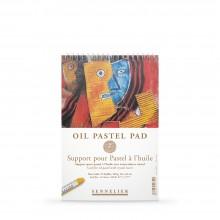 Sennelier :Papier pour Pastel à l'Huile : Glassine Intercalée : 340gsm : 12 Feuilles : 16x24cm
