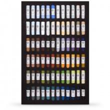 Pastels tendres unisson : Ensemble de 72 pour les paysages dans un écrin noir