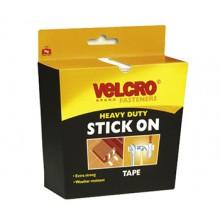 Velcro : Heavy Duty : Adhésif : 5x500cm :Black