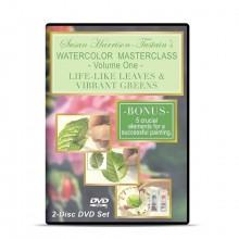 DVD :Susan Harrison-Tustain's Masterclasse Aquarelle 1 : Feuille Réalistes &;; Verts Vibrqnts :Lot de 2 Disques