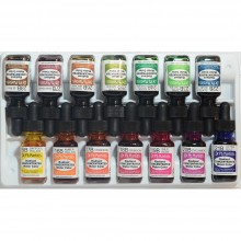 Dr. Ph. Martin's : Radiant : Peinture Aquarelle: Colorant: 15ml : Set B (15 To 28)