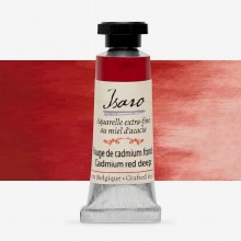 Isaro : Watercolour Paint : 7ml : Cadmium Red Deep