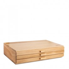 Jackson's : Wooden 3 Drawer Chest - 400x260x82mm - 5 compartments
