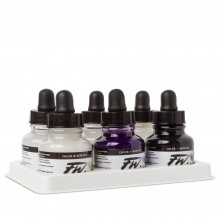 Daler Rowney : FW Artists' Ink : 29.5ml : Lot de 6 Set Of 6 Shimmering Colours