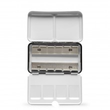 JAS : Empty Metal Watercolour Box : Holds 12 Half Pans or 6 Full Pans