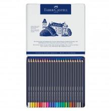 Faber Castell : Goldfaber : Crayons de Couleurs : Boite en Métal de 24