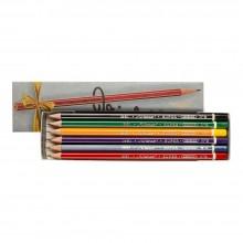 Viarco :Crayon Vintage : Boîte Argentée : Lot de 12 HB