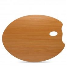 Mabef : Palette en bois ovale 35 x 45 cm (3,7 mm d'épaisseur)