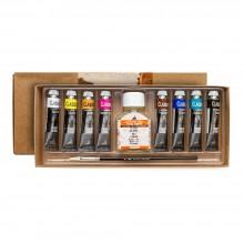 Couleurs à l'huile Fine Maimeri Classico : Jeu de 6 x 20ml tubes couleurs 018-116-161-256-307-392