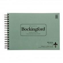 Bockingford papier aquarelle Spiral Fat Pad A4 rugueux - 25 feuilles