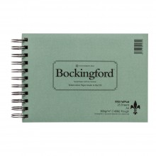 Bockingford papier aquarelle Spiral Fat Pad A5 rugueux - 25 feuilles