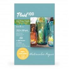 Global : Fluid 100 Easy Block : Papier Aquarelle : 300gsm : 16x21cm : Grain Satiné