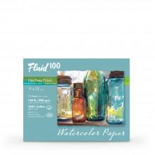 Global : Fluid 100 Easy Block : Papier Aquarelle : 300gsm : 20x30cm : Grain Satiné