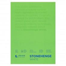 Stonehenge : Bloc Papier Art de Qualité  : 12x18cm : 15 Feuilles : Blanc : Surface Lisse / Fini Vélin